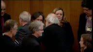 Church of England General Synod votes in favour of ordaining women bishops LIB / TX Church House INT Dr Rowan Williams chatting to women after...