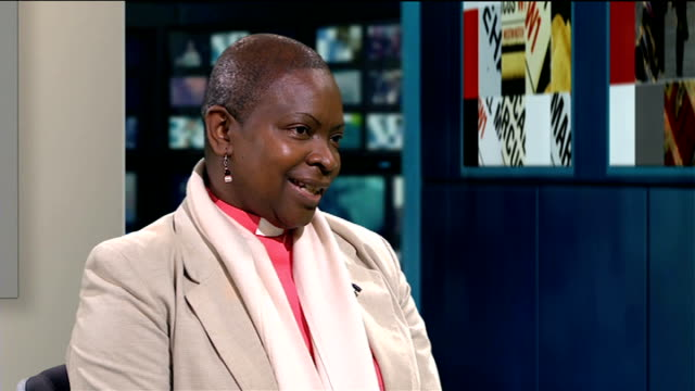Church of England General Synod votes in favour of ordaining women bishops ENGLAND London GIR INT Reverend Rose HudsonWilkin STUDIO interview SOT