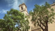 Church of the city of Denia time lapse