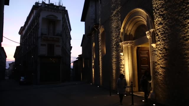A church rebuilt after the earthquake in L'Aquila on March 21 2017 The Eighth anniversary of the L'Aquila earthquake will be marked on 06 April 2017...