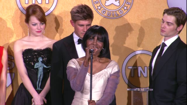 Cicely Tyson on the event and on their SAG Award win for Cast in a Motion Picture at 18th Annual Screen Actors Guild Awards Press Room on 1/29/12 in...