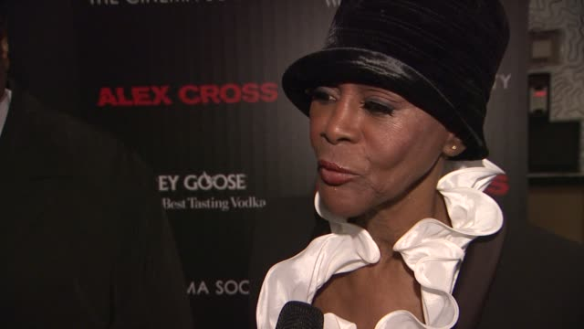 Cicely Tyson talks about the film being a thriller and Tyler Perry's performance at The Cinema Society Grey Goose Host A Screening Of 'Alex Cross' at...