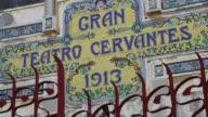 Cien anos despues de su construccion el teatro Cervantes de Tanger en el norte de Marruecos una obra maestra de la arquitectura espanola del siglo XX...