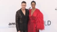 Cindy Bruna Rose Bertram Jeremy Scott Tracee Ellis Ross at on the red carpet at the amfAR Gala during the Cannes Film Festival 2017 Thursday 25 May...