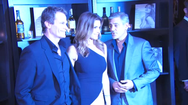 Cindy Crawford George Clooney and Rande Gerber at Casamigos Tequila and Cindy Crawford book launch party at The Beaumont Hotel on October 01 2015 in...