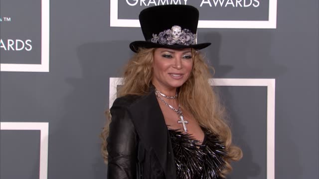 Cindy Valentine at The 55th Annual GRAMMY Awards Arrivals in Los Angeles CA on 2/10/13