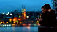 HD- Cinemagraph Istanbul Romantic Couple River View Parallax