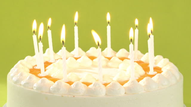 cinemagraph loop birthday cake with candles