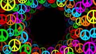 Kreise von bunten Frieden Symbole (Endlos wiederholbar