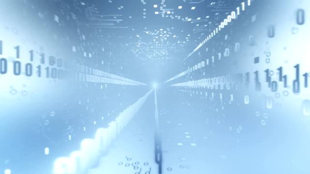 Circuit Board Tunnel (with Binary Code, light blue))