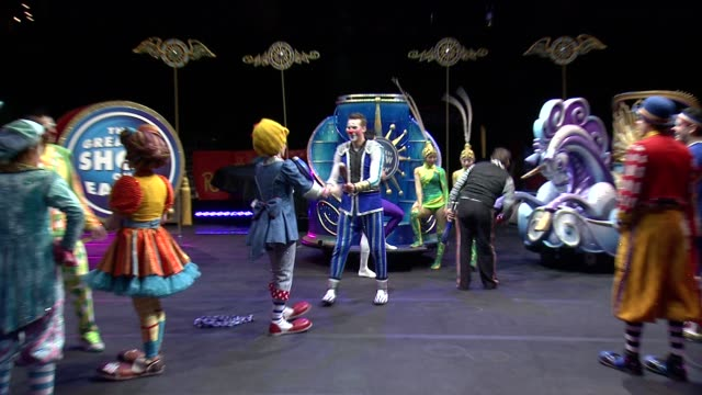 ATMOSPHERE circus performers at Ringling Brothers and Barnum Bailey Presents LEGENDS at Barclays Center of Brooklyn on February 20 2014 in New York...