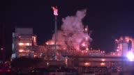 A Citgo Refinery In Lemont started on fire in the crude unit There were no injuries Citgo Refinery At Night on October 24 2013 in Lemont Illinois