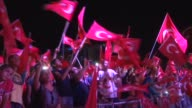 Citizens gather at Ugur Mumcu square to protest the failed military coup attempt by Gulenist Terror Organization/Parallel State Structure and to show...