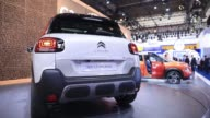 A Citroen C3 Aircross sports utility vehicle manufactured by PSA Peugeot Citroen sits on display during the second media preview day of the IAA...