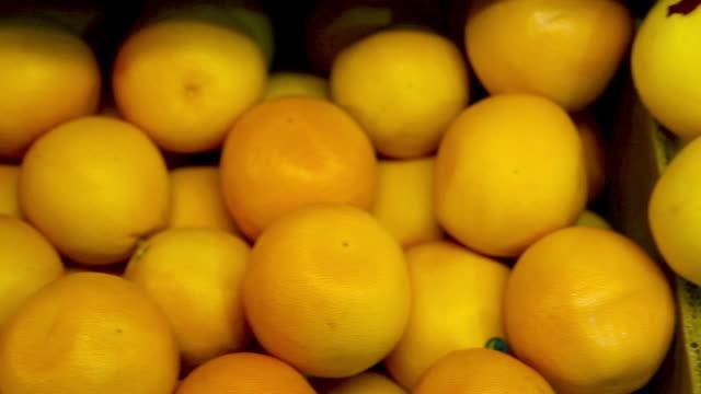 Citrus fruits in supermarket