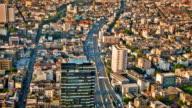 Stadt aerial Nahaufnahme