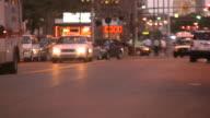 City car traffic. Evening.