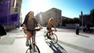 Città in bicicletta.