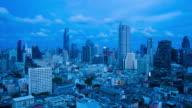 City day to night metropolis Bangkok