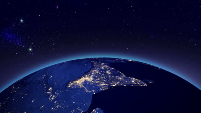 City lights in India from space