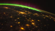 City Lights of Planet Earth seen at night from the ISS (International Space Station)