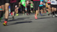 City Marathon Runners At Race (4K/UHD)