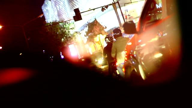 City Nightlife and Traffic jam