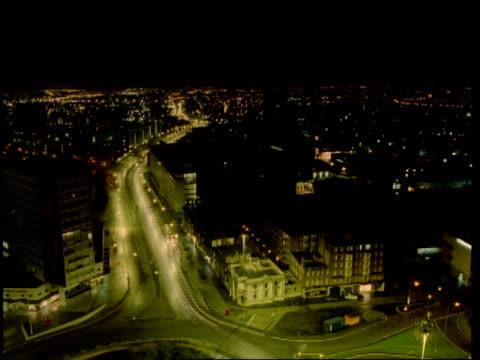 T/L City of Birmingham, night to dawn, traffic