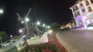 City of Denia at night time lapse