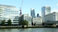 POV City Of London Viewed From River Thames