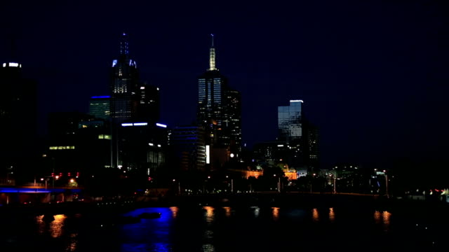 City of Melbourne at Night, Australia