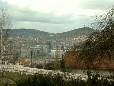 City of Sarajevo with hills beyond 1994