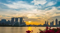City of Singapore at Sunset,Timelapse