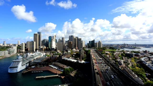 City of Sydney Cityscape View From Harbour Bridge, Australia