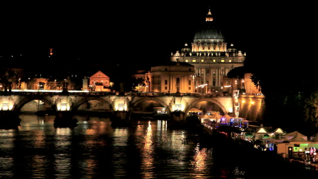 City of Vatican and Rome at Night, Italy