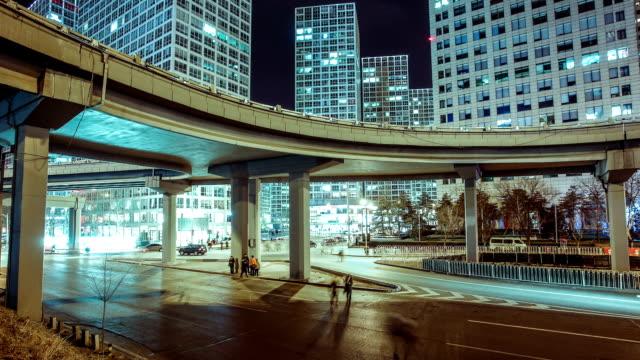 City overpasses traffic,Beijing,China