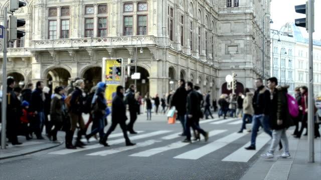 City Pedestrian Traffic Vienna.