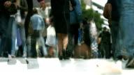 City People Walking Doppelbelichtung (4 k UHD zu/HD)