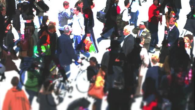 Città di persone a piedi (composito