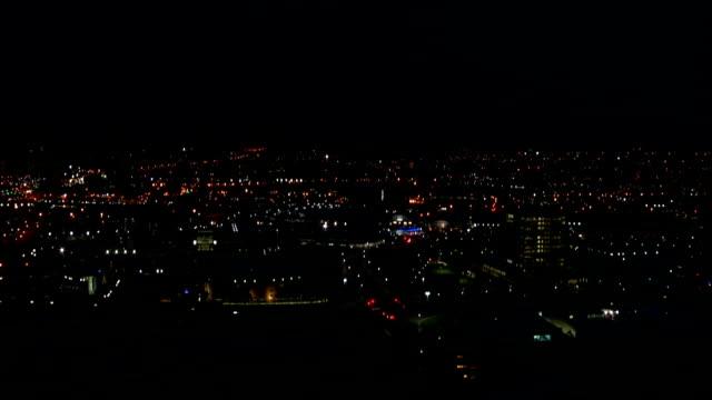 WS HA  City skyline at night / Durban/ South Africa