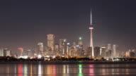 WS T/L City skyline at night / Toronto, Ontario, Canada