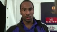 City striker Cmaeron Jerome speaking in the mixed zone following Stoke's 11 draw against Dynamo KievShevchenko was disappointed his side never won...