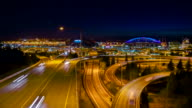 SEATTLE city time-lapse freeway traffic