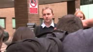 City trader in court accused of manipulating the LIBOR system ENGLAND London Southwark Crown Court EXT Tom Hayes out of court with wife Sarah Hayes...