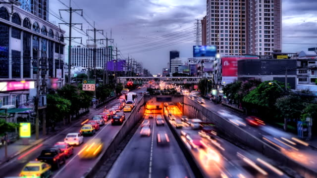 City Traffic in Twilight