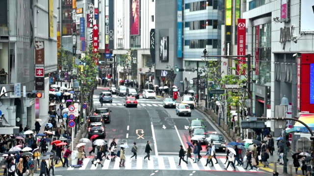 Stad verkeer Shibuya Tokio, Slowmotion cross