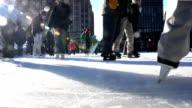 HD - City Urban Ice Skating Ring Quebec