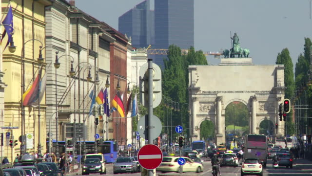 Blick auf die Stadt München Zeitraffer