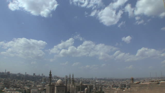 WS HA TD City view with Sultan Hazan Mosque, Cairo, Egypt