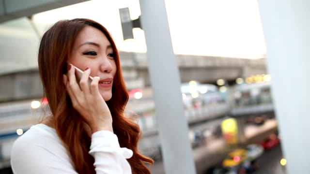 City Woman talking on phone